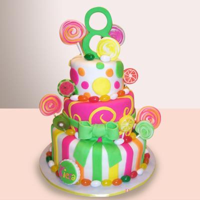 Картонный торт для конфет фото 10